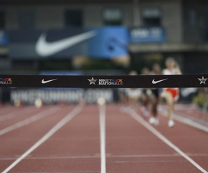 field, nike, and running image