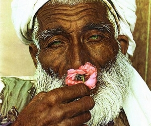 man and flower image