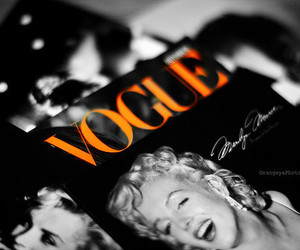vogue, Marilyn Monroe, and magazine image