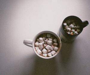marshmallow, chocolate, and vintage image