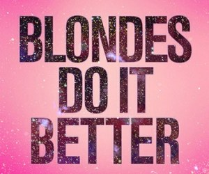 blonde, pink, and love image