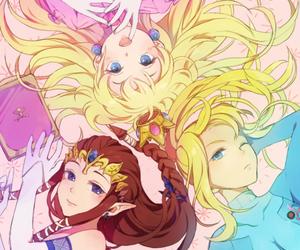 zelda, peach, and Samus image