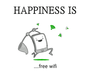 wifi, happiness, and free image