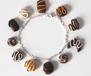 bracelet, chocolate, and chocolates image