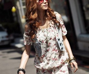 girl, outfit, and designer clothing image