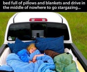 pillows, stargazing, and bucket list image