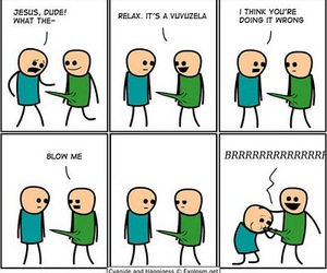 cyanide and happiness, separate with comma, and lmao image