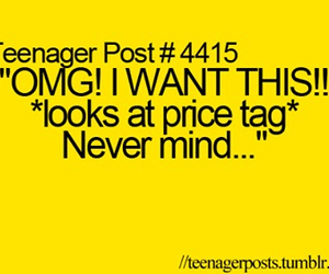teenager post, funny, and shopping image