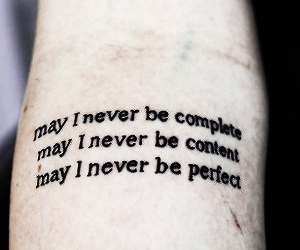tattoo, quotes, and perfect image