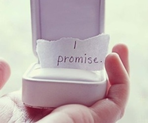 love, promise, and text image