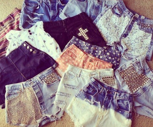 fashion, shorts, and studs image