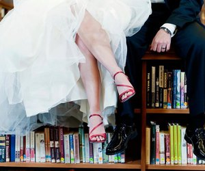 books, library, and shoes image