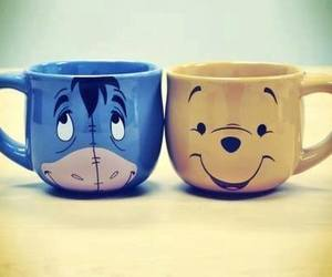 cups, eeyore, and smile image