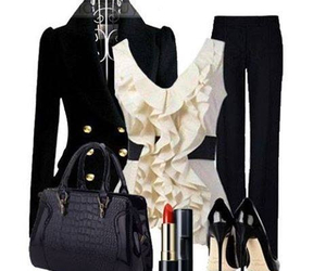 black & white, clothes, and dress image