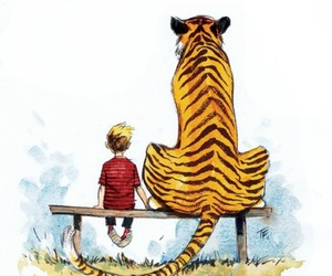 calvin, tiger, and friendship image