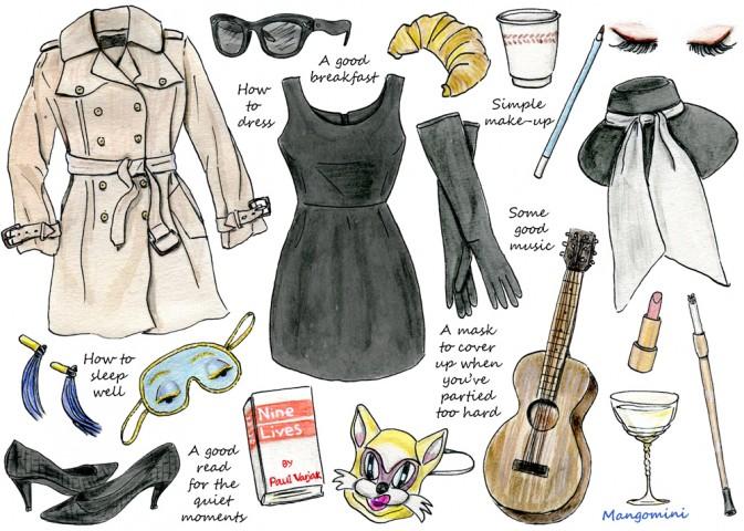 audrey hepburn, Breakfast at Tiffany's, and drawing image