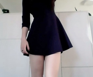 pale, dress, and black image