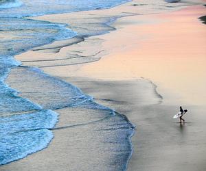 beach, surf, and sea image