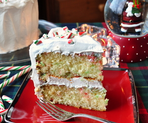 cake, candy cane, and christmas image