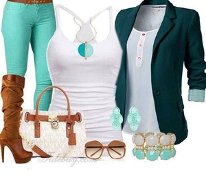 blazer, boots, and clothes image