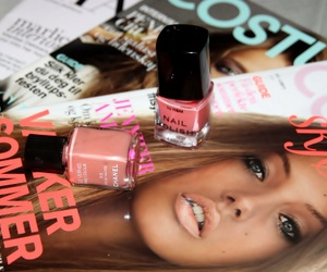 magazine, nail polish, and chanel image
