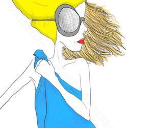 bath, hair, and illustration image