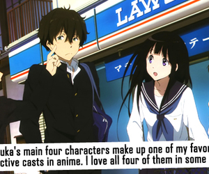 anime, hyouka, and confession image