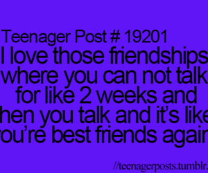teenager post, best friends, and friendship image