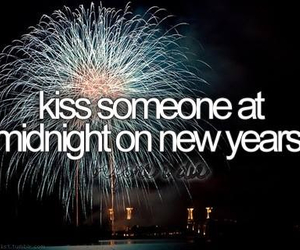 kiss, new year, and midnight image