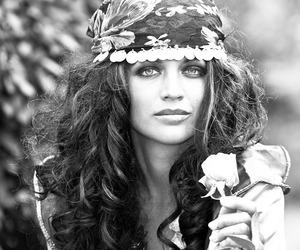 gypsy, black and white, and boho image