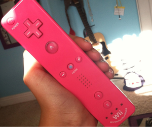 pink, wii, and girl image