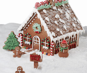christmas and gingerbread house image