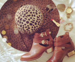 accessories, boots, and hat image