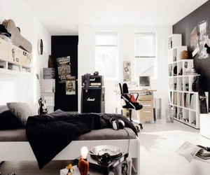 bedroom, decor, and white image
