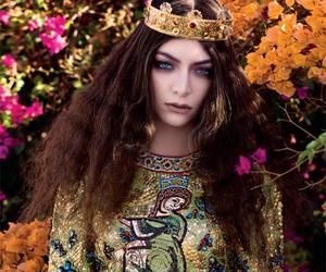 lorde, flowers, and royal image