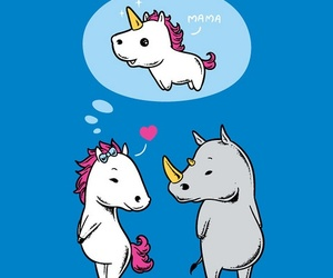 unicorn, funny, and horse image