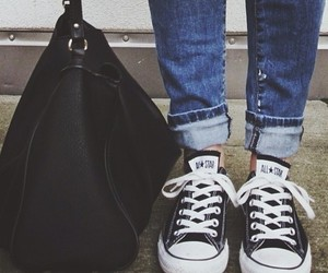 converse, black, and fashion image