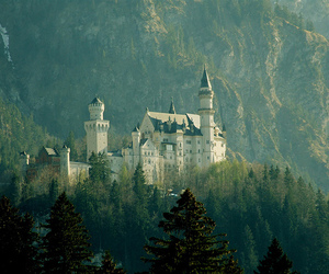 castle, germany, and mountains image
