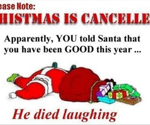 christmas, santa, and funny image