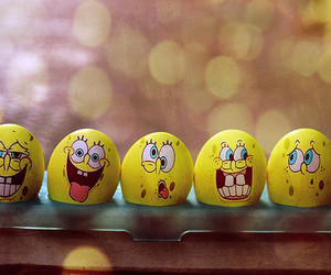 spongebob, eggs, and sponge bob image