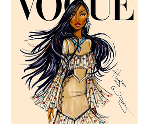 vogue, disney, and pocahontas image