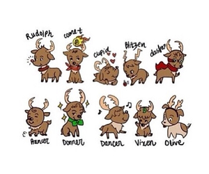 christmas, reindeer, and rudolph image