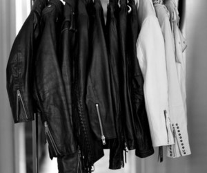 fashion, jacket, and leather image