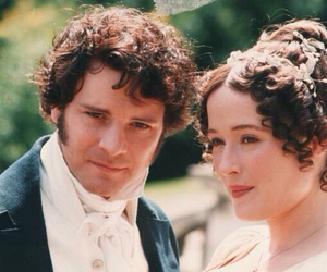 pride and prejudice, mr darcy, and elizabeth bennet image