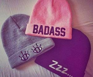 badass, pink, and black image