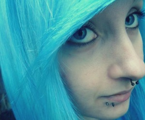 blue, blue eyes, and color hair image