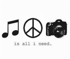 music, peace, and photography image