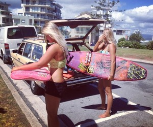 car, surf boards, and ximena image