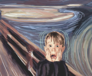 home alone, funny, and art image