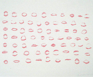 kiss, lipstick, and red image